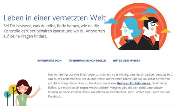 """Facebook: Portal """"Leben in einer vernetzten Welt"""" startet"""