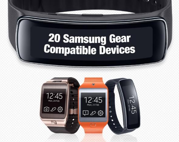 Samsung: Diese Geräte sind mit der Gear 2 / Fit kompatibel