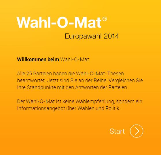 Wahl-O-Mat zur Europawahl 2014