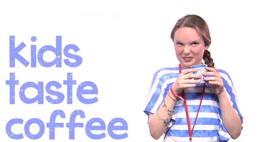[Fundstück] Kinder probieren zum ersten Mal in ihrem Leben Kaffee