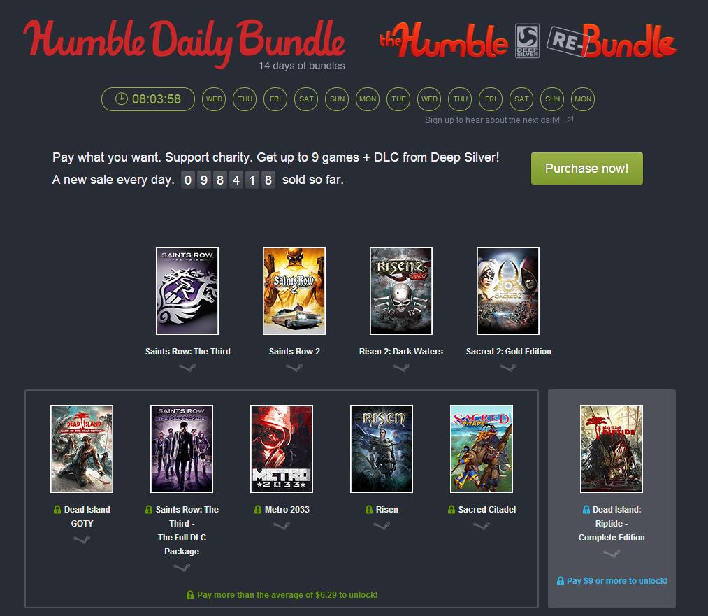 Humble Daily Bundle: Zwei Wochen lang täglich ein neues Bundle