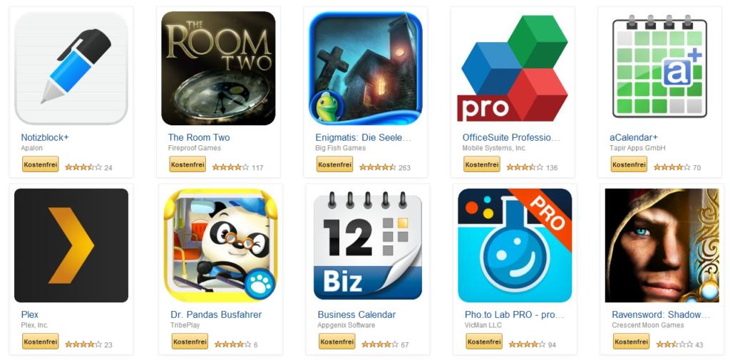 Amazon verschenkt 30 Apps