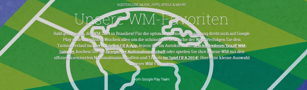 Fußball WM 2014: Google Play Special startet