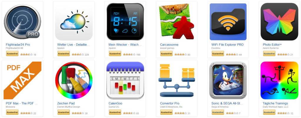 Amazon App-Shop: Apps im Wert von über 100 Euro gratis
