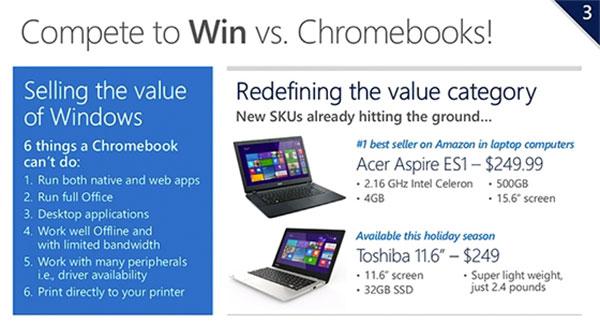 Microsoft sagt Chromebooks den Kampf an