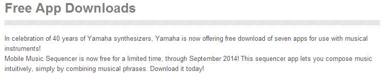 iOS: Kostenlose Musik-Apps von Yamaha