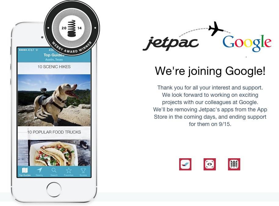 Google übernimmt digitalen Stadtführer Jetpac