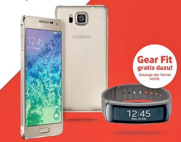 Vodafone: Samsung Galaxy Alpha kaufen, Gear Fit gratis dazu bekommen