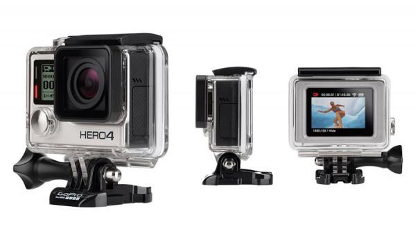 GoPro: Hero 4 Black / Silber und Einsteigermodell Hero vorgestellt