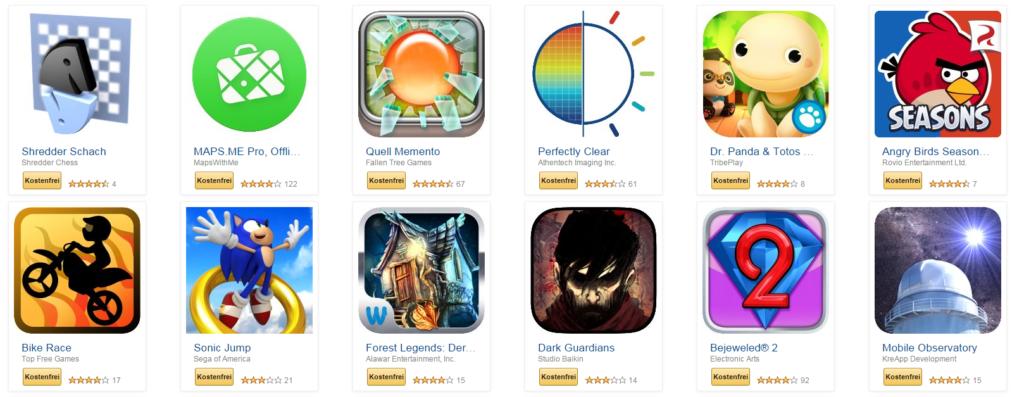 Amazon: Erneut kostenlose Apps – 42 an der Zahl