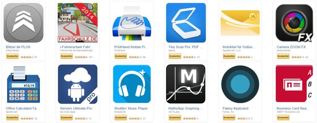 Amazon: Gratis Apps im Wert von über 75 Euro