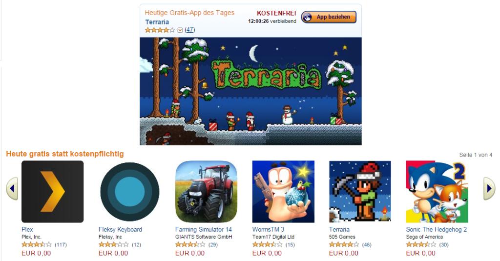 Amazon: Wieder kostenlose Apps im Wert von 175 Euro
