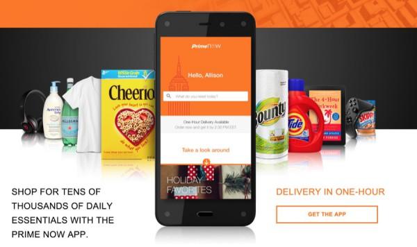 Amazon Prime Now liefert innerhalb von einer Stunde