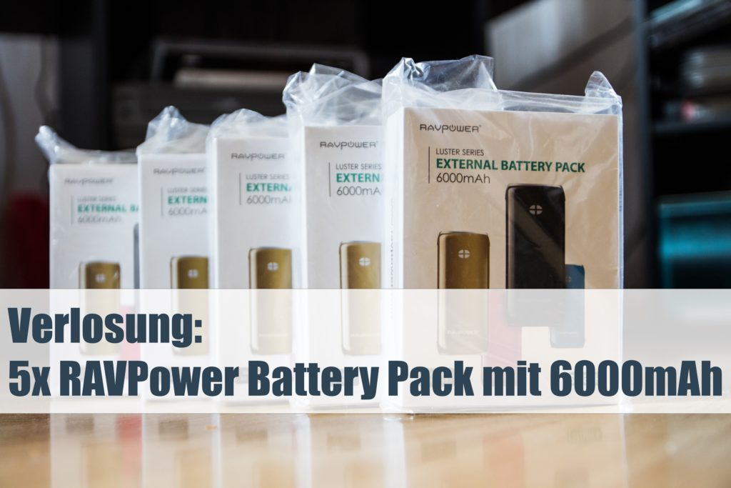 Verlosung: 5x Battery Pack mit 6000 mAh