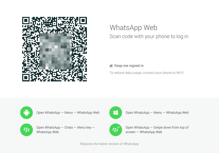 WhatsApp Webversion