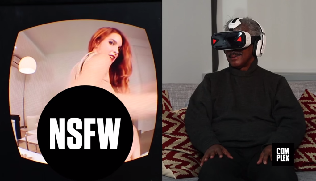 Video: Senioren gucken Virtual Reality-Porno