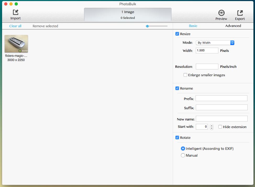 PhotoBulk: Einfache Stapelverarbeitung von Bildern für OS X