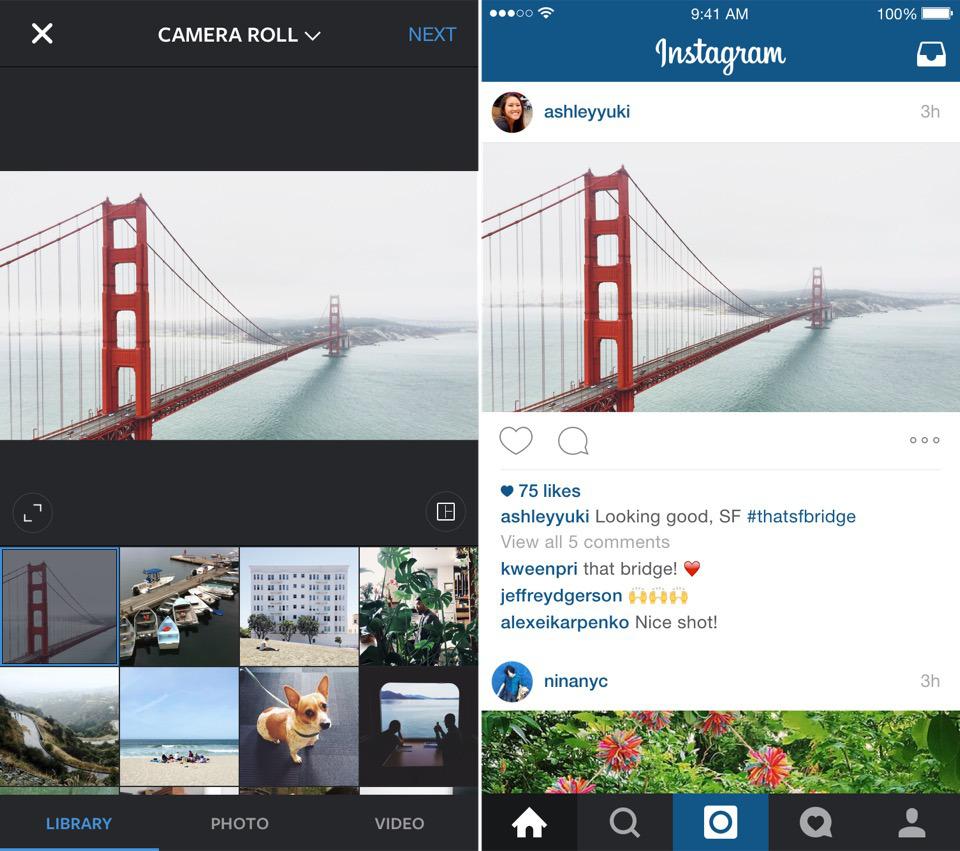 Instagram: Hoch- und Querformat jetzt möglich