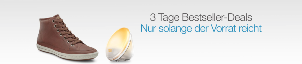 Amazon: 3 Tage Bestseller-Deals (Tag 1)