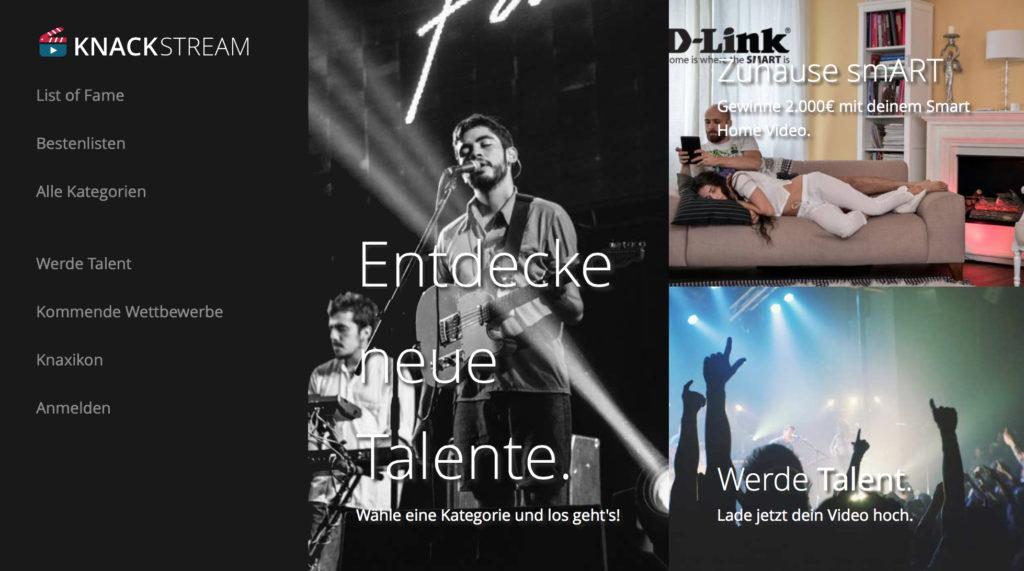 Knackstream: Video-Plattform für Talente
