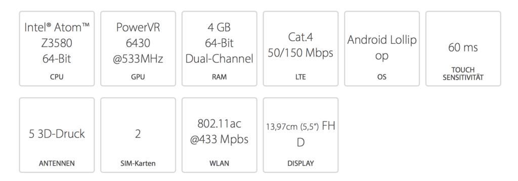 Asus Zenfone 2 Datenblatt
