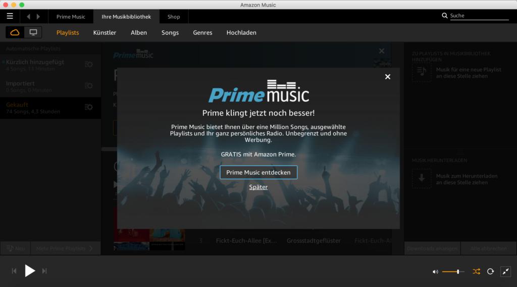 Amazon Prime Music jetzt auch in Deutschland verfügbar
