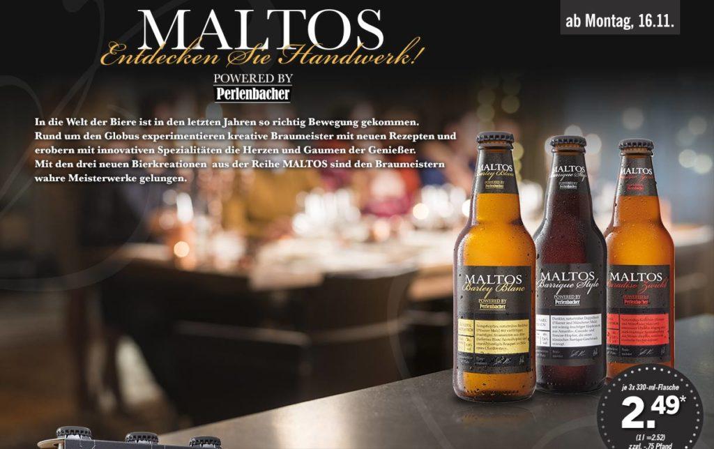 Maltos Bier bei LIDL