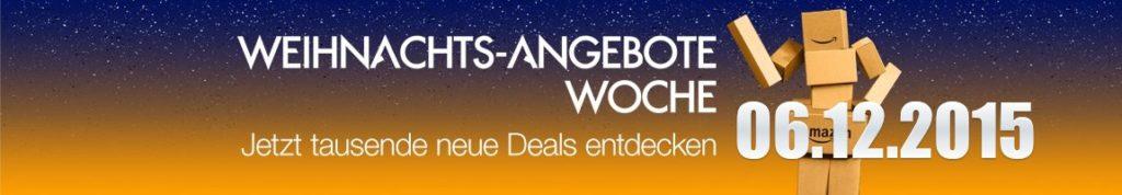 Amazon Weihnachts-Angebote-Woche: Tagesangebote vom 06.12.2015