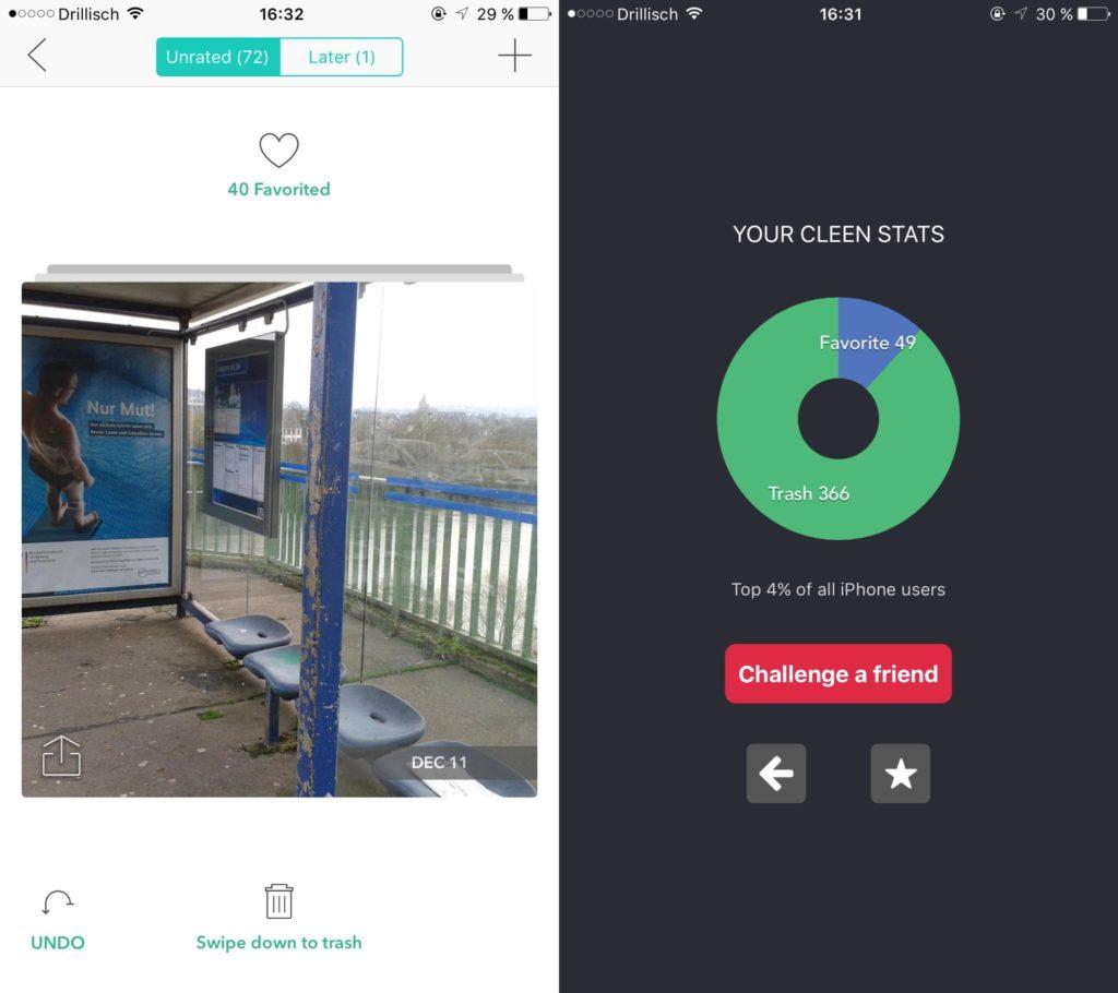 Cleen für iOS: Schnell und einfach Bilder aussortieren