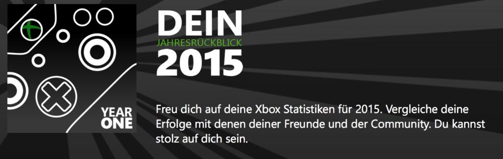 Xbox: Individuellen Jahresrückblick 2015 erstellen