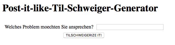 """Der """"Post-it-like-Til-Schweiger-Generator"""""""
