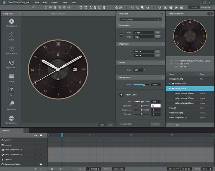 Samsung: Gear Watch Designer für Windows und OS X veröffentlicht