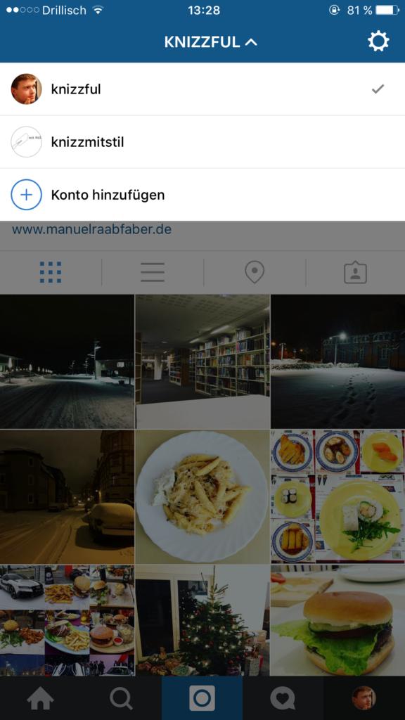Instagram: Unterstützung für mehrere Accounts jetzt verfügbar