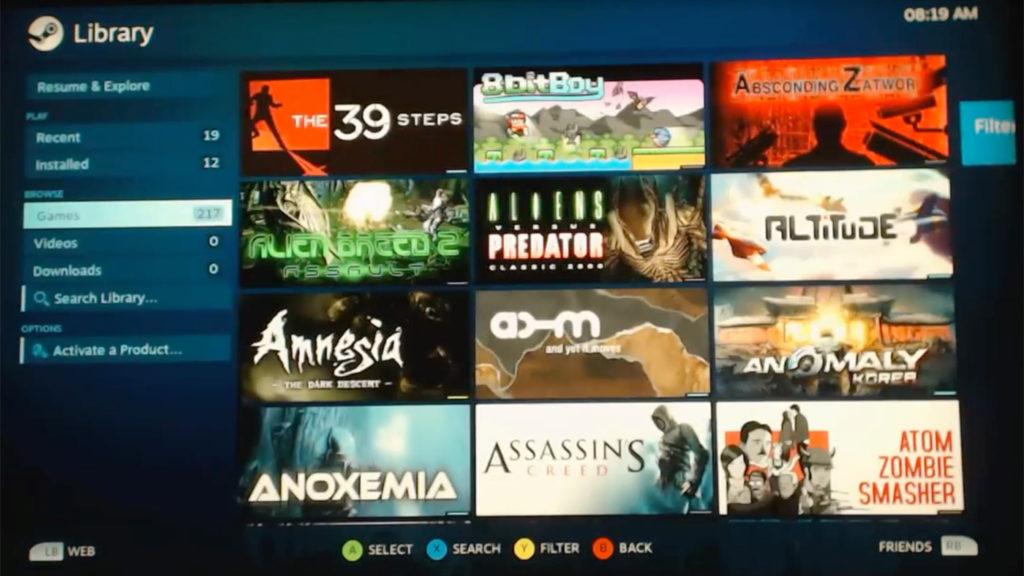 Steam läuft auf der Sony PlayStation 4