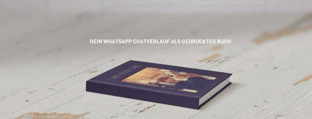 Chatprint - WhatsApp Chatverlauf als Buch drucken lassen