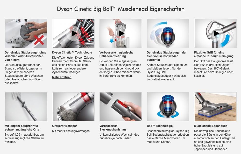 Dyson Cinetic Big Ball Musclehead EIgenschaften