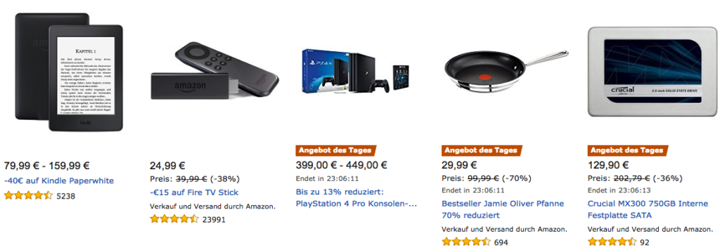 Amazon Cyber Monday: Tagesangebote vom 25.11.2016
