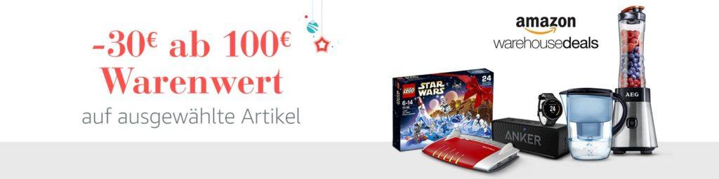 Amazon Weihnachts-Angebote-Woche: Tagesangebote vom 30.11.16
