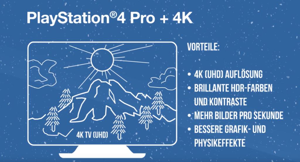 Sony PlayStation 4 Pro Vorteile