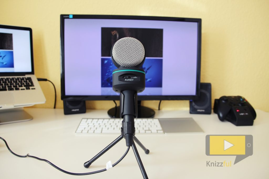 Testbericht: AUKEY Kondensatormikrofon mit Tischstativ