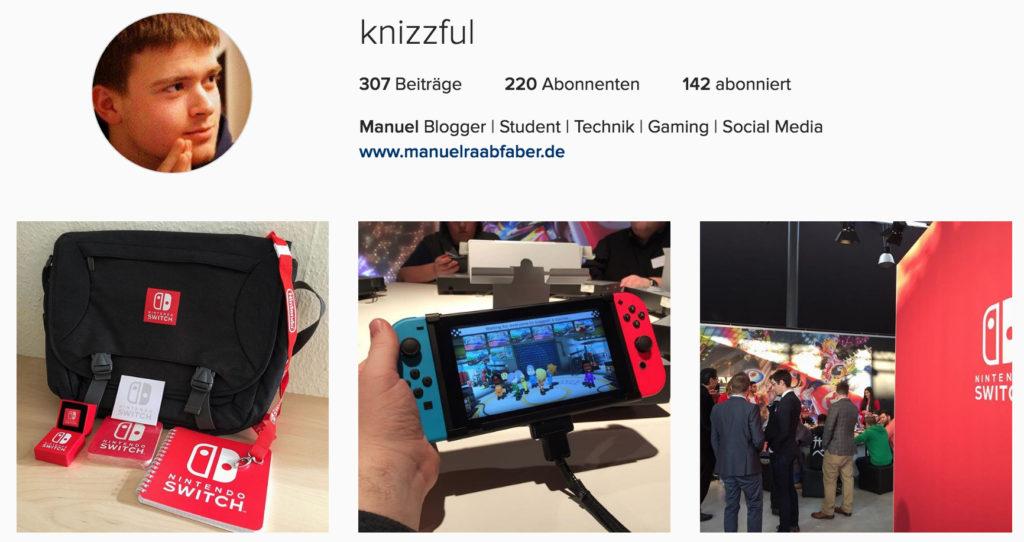 Knizzful - Manuel Raab-Faber - Instagram Profil