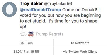 Tweet Trump Regrets