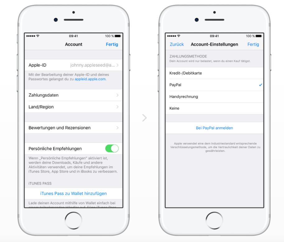iTunes & App Store: Zahlen via PayPal künftig möglich