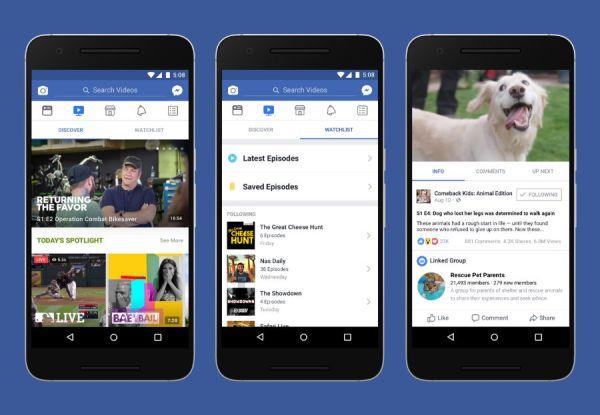 Watch: Facebook startet neue Videoplattform