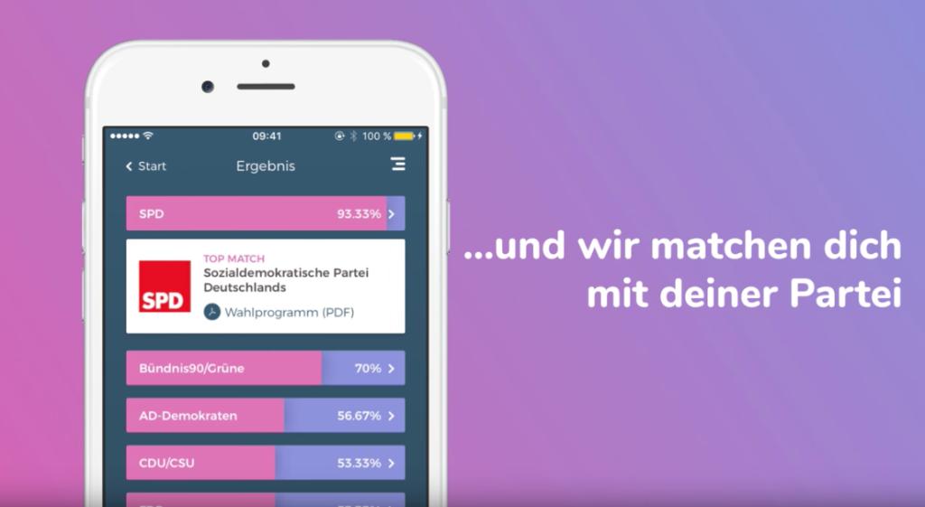 WahlSwiper - Passende Partei für die Bundestagswahl 2017 finden