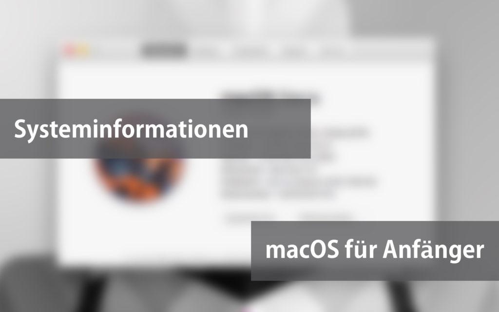 Systeminformationen unter macOS anzeigen lassen