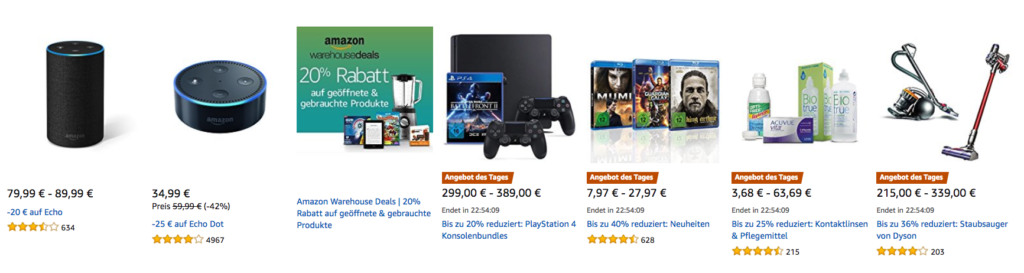 Amazon Cyber Monday: Tagesangebote vom 21.11.2017
