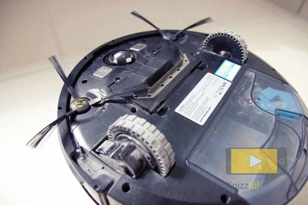 ILIFE V80 Saugroboter Unterseite