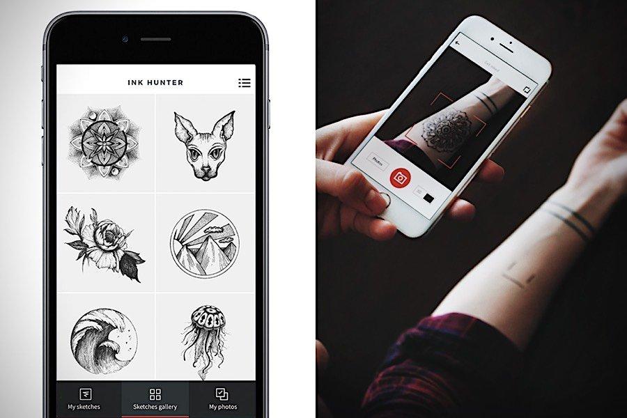 INKHUNTER: Tattoos vorab per App auf der Haut ansehen