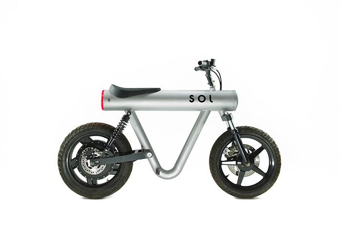 Pocket Rocket: E-Motorrad im schlichten Stil